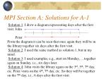 mpi section a solutions for a 1