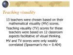 teaching visuality