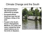 climate change and the south
