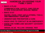 handbook on keeping your family safe