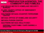 preparation agencies the community and families