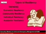 types of resiliency