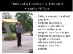 duties of a community oriented security officer1