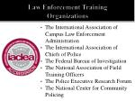 law enforcement training organizations