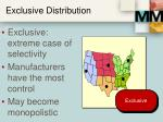 exclusive distribution