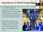 importance of retail employees