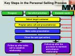 key steps in the personal selling process1