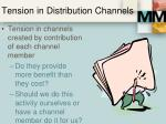 tension in distribution channels