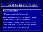 role of the department head