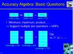 accuracy algebra basic questions