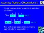 accuracy algebra observation 1