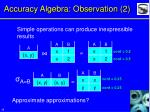 accuracy algebra observation 2