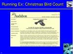 running ex christmas bird count