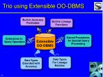 trio using extensible oo dbms