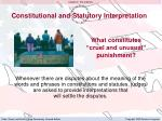 constitutional and statutory interpretation