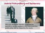 judicial policymaking and democracy