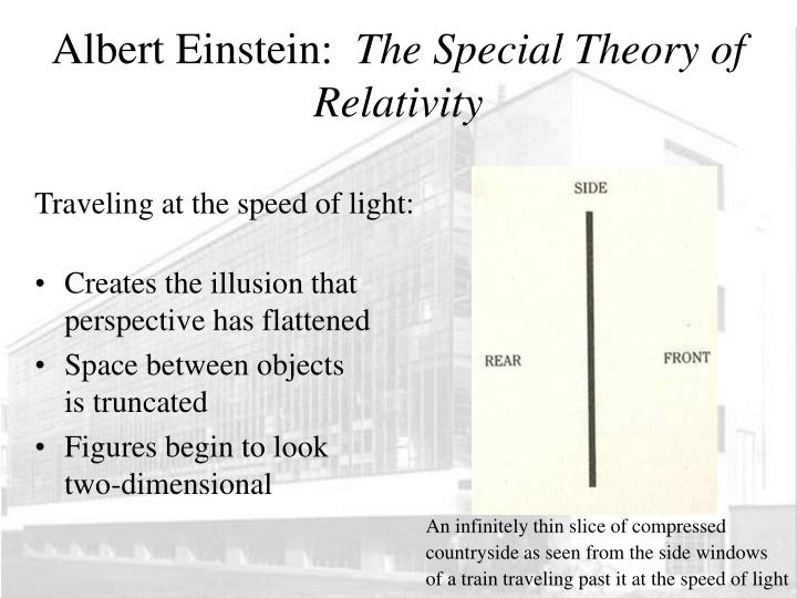 a study on einsteins theory of special relativity