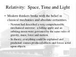 relativity space time and light1