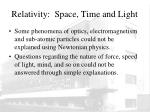 relativity space time and light2
