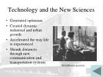technology and the new sciences