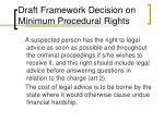 draft framework decision on minimum procedural rights