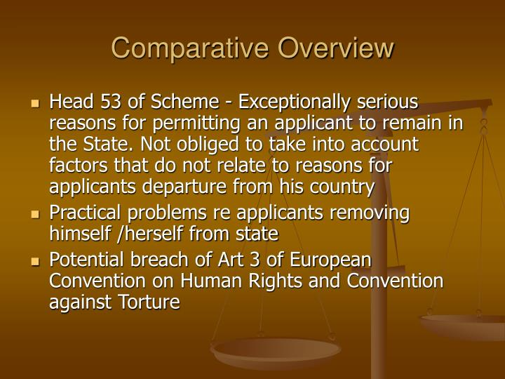 Comparative overview1
