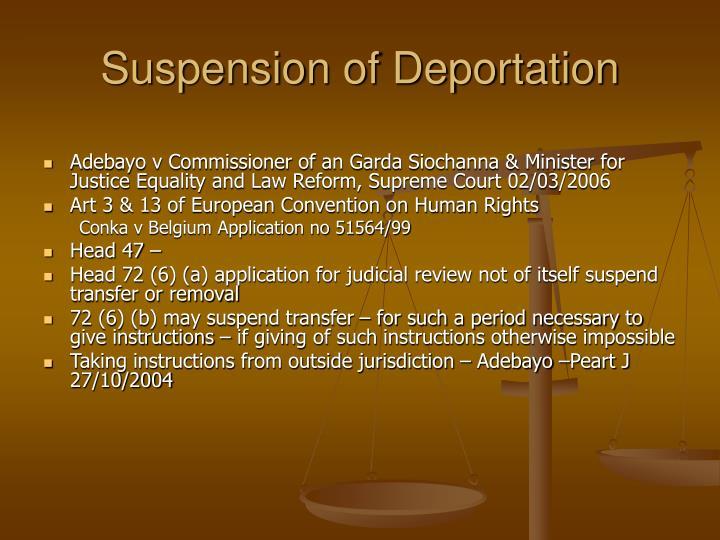 Suspension of Deportation