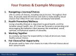 four frames example messages
