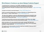 what netezza s customers say about netezza customer support1