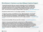 what netezza s customers say about netezza customer support3