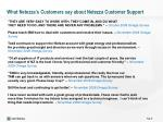what netezza s customers say about netezza customer support6