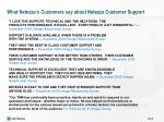 what netezza s customers say about netezza customer support7