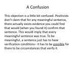 a confusion