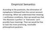 empiricist semantics