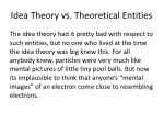 idea theory vs theoretical entities