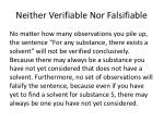 neither verifiable nor falsifiable
