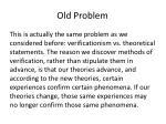 old problem