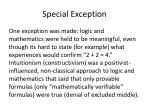 special exception