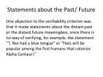 statements about the past future