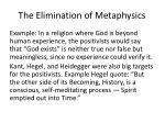 the elimination of metaphysics1