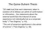 the quine duhem thesis