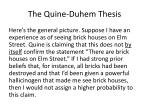 the quine duhem thesis1