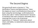 the second dogma