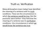 truth vs verification