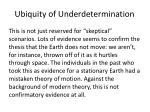ubiquity of underdetermination