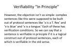 verifiability in principle