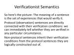 verificationist semantics