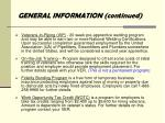 general information continued3