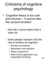 criticisms of cognitive psychology