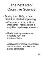 the next step cognitive science